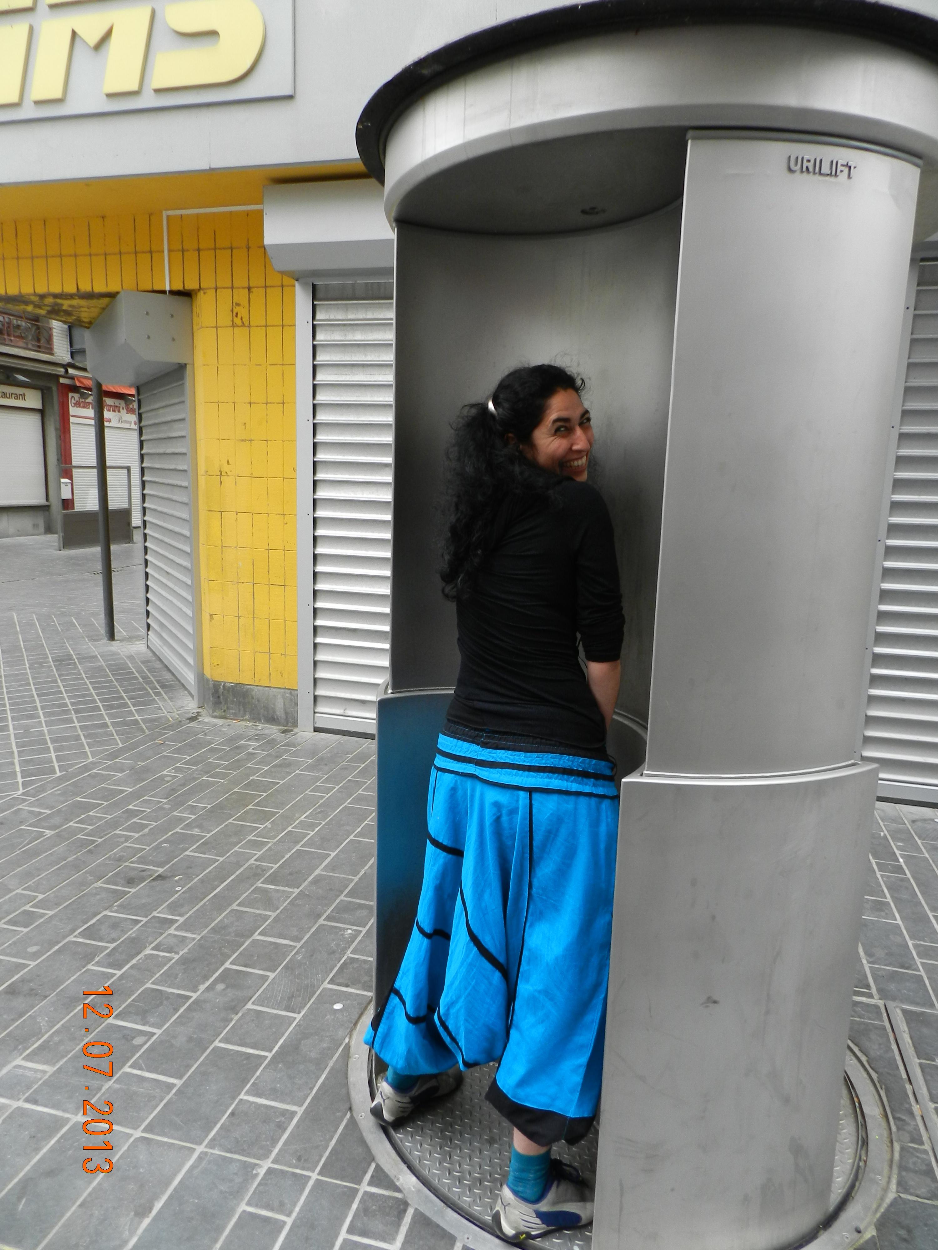 De zogenaamde Urilady in Oostende is een gewoon zelfreinigend toilet